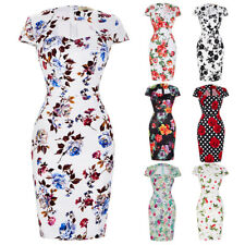Dress Wiggle Size Cocktail Pencil Retro Vintage Party Swing 50s Style Bodycon