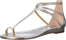 MICHAEL Michael Kors Womens Camille Leather Open Toe Casual T-Strap Sandals