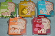 TOVOLO SANDWICH KEEPER COOKIE CUTTER SHAPER CHEESE BREAD BEE/HIVE  WHALE/OCTOPUS