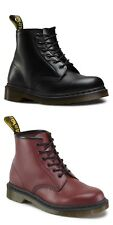 Dr Martens 101 Smooth Black Or Cherry Red 6 Eye Lace Up Boots