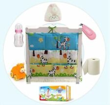 Nursery Hanging Storage Bag Baby Cot Bed Organizer 60*52cm Diaper Crib Pocket