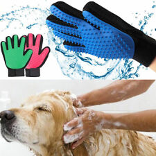 2-X Pet Magic Hair Brush Silicone Comb Dog Cat Grooming Massage Soft Bath Glove