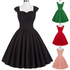 Dress Evening Elegant Pinup Cotton Retro Vintage Womens Party Swing 50s Style