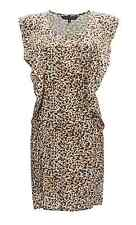 FCUK French Connection Cheetah Spots Flared Dress waist ties BNWT Various sizes