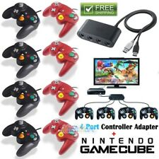 4 Port Gamecube Controller Adapter For Nintendo Wii & Switch+NGC Wii Controller