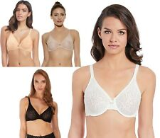 Wacoal Halo Lace Bra Underwire Moulded Stretch Lace Non Padded J Hook Bra 851205