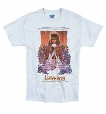 Official Men's Labyrinth Illustrated Movie Poster Ash Grey T-Shirt