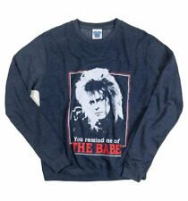 Official Labyrinth Retro You Remind Me Of The Babe Heather Navy Sweater