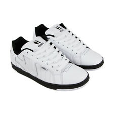 Etnies Fader 2 Mens White Leather Sneakers Lace Up Skate Shoes
