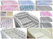 BABY BEDDING SET /BUMPER/ DUVET COVER/PILLOWCASE to fit COT or  COT BED