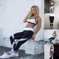 Womens Sport YOGA Workout Gym Fitness Leggings Pants Runing Athletic Clothes NEW