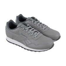 Reebok Classics Harman Run Mens Gray Leather Athletic Lace Up Running Shoes