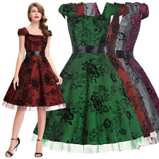 Women Dress Evening Picnic Prom Cocktail Retro Housewife Vintage Party Swing