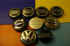 VOLVO VW VOLKSWAGEN AUDI ALLOY WHEEL CENTRES CAPS SEE BELOW FOR SIZES