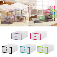 Colorful Drawer Shoe Storage Box Organizer Case Plastic Home Clear Boxes Boot