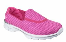 Ladies Skechers Go Walk 3 Comfort Walking Shoes Trainers Sneakers Hot Pink Sze 4