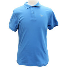 Barbour Mens Sports Polo Shirt in French Blue - S & M