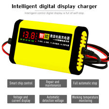 12V 2A Battery Charger for Car Motorcycle Lead Acid AGM/GEL/LCD Display Power