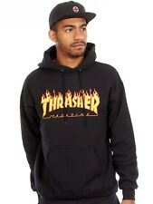 Thrasher Black Flame Logo Hoody