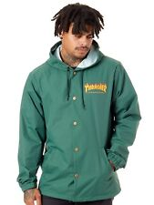 Thrasher Forest Green Flame Logo Jacket
