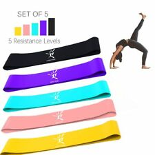 5 Colors Latex Resistance Bands Fitness Set Rubber Loop Bands Strength Training