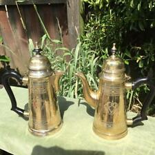 Antique Silver Plated Tea and Coffee Pot Bakerlite Handles Ornate Etched EPNS