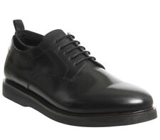 Mens Ask The Missus Icarus Derby Shoes Black Hi Shine Leather Casual Shoes