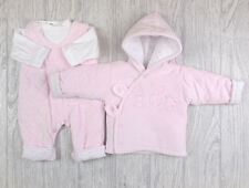 Mintini Baby Girls Spanish Style Set Velour Pink  Dungarees Top & Jacket Outfit