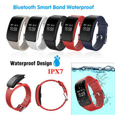 Waterproof Bluetooth Smart Bracelet Wristband Watch Heart Rate Fitness Tracker