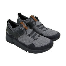 Clarks Tri Active Run Gtx Mens Gray Textile Athletic Lace Up Running Shoes