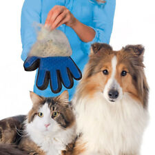 Pet Grooming Brush Hair Deshedding Dog Cat Glove Massage Gentle Removal Cleaning