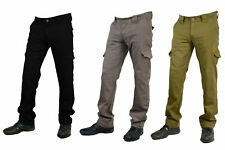 GBG Mens Motorbike Reinforced Cargo Protective Trouser Jeans With Aramid Lining