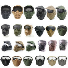 Airsoft Paintball Shooting Full Face Tactical Metal Steel Wire Mesh PC Lens Mask
