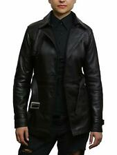 Brandslock Womens Genuine Leather Biker Jacket Coat Vintage Retro