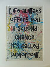 Inspirational Sign Wall Print No.394, inspirational quote, life quote