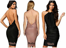 Honor Gold Backless £75 Bandage Bodycon Dress UK Size 8 10 12 14 (S,M,L)