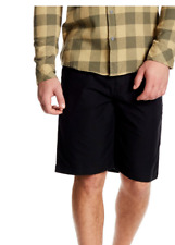 New Quiksilver solid black khaki chino walk EVERYDAY UNION shorts sz 30 33 36