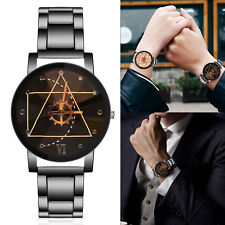 Luxury Men Women Compass Watch Stainless Steel Quartz Analog Wrist Watch Fashion