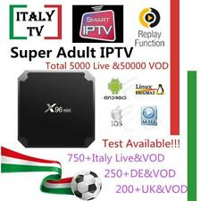 Super IPTV Subscription X96mini Android tv box Italy Albania German UK 5000+Live
