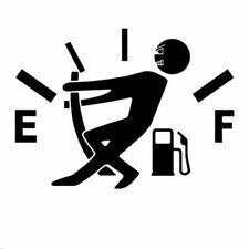 Funny Car Stickers High Gas Consumption Decal Fuel Gage Empty Stickers Vinyl JDM