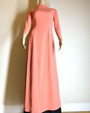 Ao Dai Vietnamese Double Layer Long Dress With  Pants Free Priority Shipping