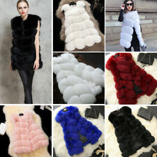 Jacket Coat Warm Gilet Outwear Vest Faux Winter  Fur Women's Waistcoat 7 Colours