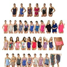 Ladies Swimming Costume Tankini Set Swimsuit One Piece Bikini Sarong Kaftan