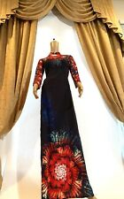 Ao Dai Vietnamese Long  Dress with Blue Pants (Free Priority Shipping)