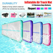 Fbsport 20cm Thick Gymnastics Exercise Tumbling Air Track Inflatable Mats W/pump