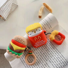 For AirPods Charging Case 3D Cute Cartoon Hamburger Silicone Shockproof Case US