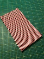 **SALE** POLYCOTTON RED GREEN WHITE XMAS CHRISTMAS STRIPES 1.15 M X 71 CM
