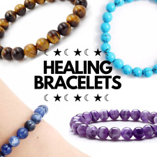 HEALING CRYSTAL STRETCH BRACELET UNISEX // HEALING // PROTECTION // LOVE