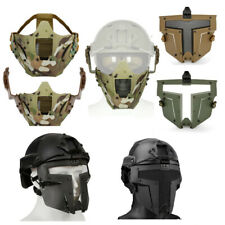 Outdoor Airsoft Shooting Tactical Fast Helmet Rail Mount Steel Wire Mesh Mask