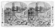 Photo of Stereograph,Residence,Mahlon D. Ogden,Chicago,Illinois,Great Fire,1871